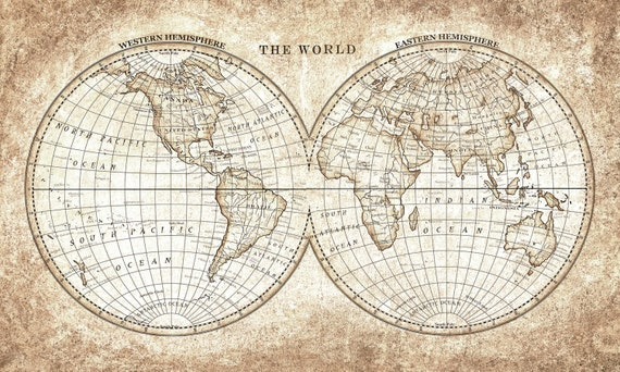 Old world map vintage hand painted for printing and clip art gumiabroncs Image collections