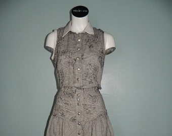 Retro Tarsiani Black and White Dress Size 6