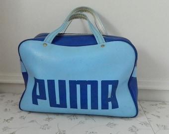 a2c60b8d9e Retro Light and Dark Blue Puma Bag