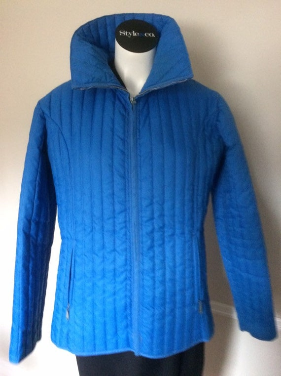 Vintage Blue 70s White Stag Unisex Puffy Ski Jacke