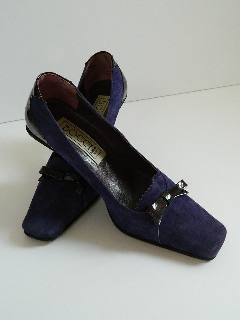 7f243b28a88fa Deep Violet Super Soft Suede Bocci Pumps Made in Italy Ladies US Size 5