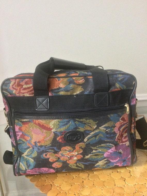 Retro Heys Floral Tapestry Duffle Bag