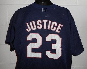 purchase cheap a0bda 3dad3 Blue braves jersey | Etsy