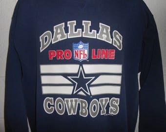 c20f5775e Vintage 90s Dallas Cowboys Proline Crewneck Sweatshirt L XL