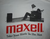 Vintage 90s Maxell Cassette Tape Take Your Music to the Max Travis Scott T-Shirt XL
