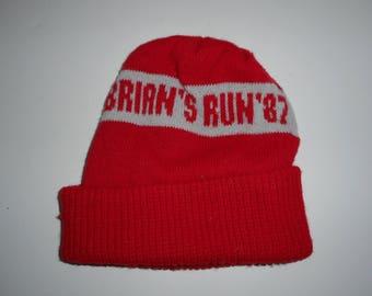 Vintage 1987 Brian s Run West Chester Pennsylvania Scott Honda Beanie Knit  Cap f96ef8c0b0cd