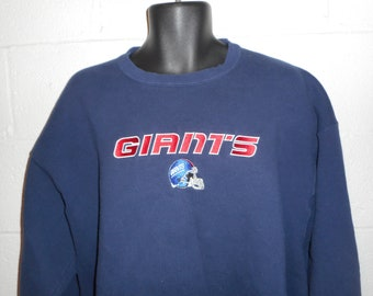 4db973695b1a29 Vintage 90s New York Giants Embroidered Sweatshirt Fits 2XL XXL