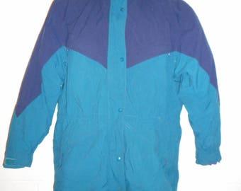 be97a93912 Vintage Women s Lands End Winter Ski 2 in 1 Micro Loft Coat Jacket Medium  10-12