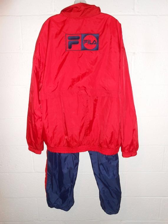 Vintage 90s Fila Windbreaker Pant Suit 2XL XXL