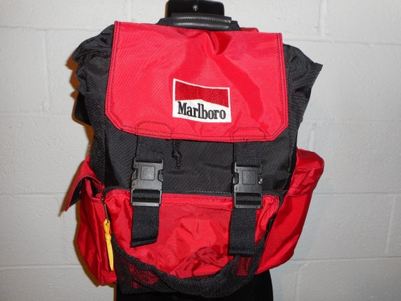 "Vintage Marlboro Hiking Padded Backpack 12""x17""x5"""