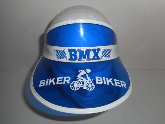 Vintage 80s BMX Biker PVC Transparent Sun Visor Yo