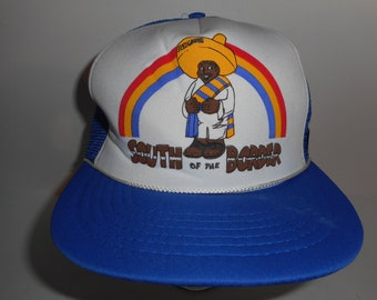 Vintage 80s 90s South of The Border Trucker Snapback Hat Cap