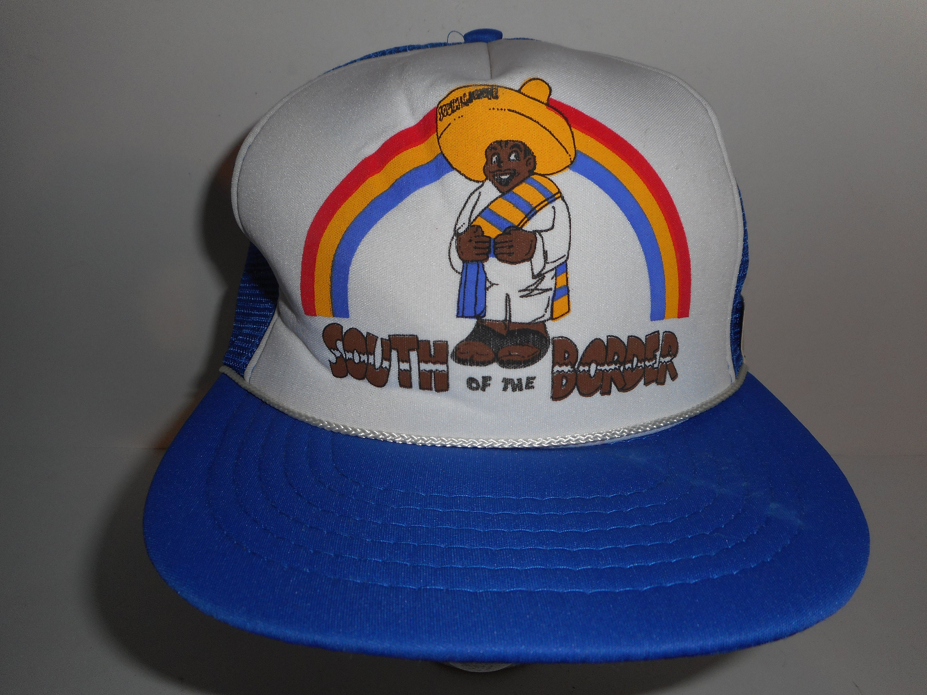 e6ebed093 Vintage 80s 90s South of The Border Trucker Snapback Hat Cap
