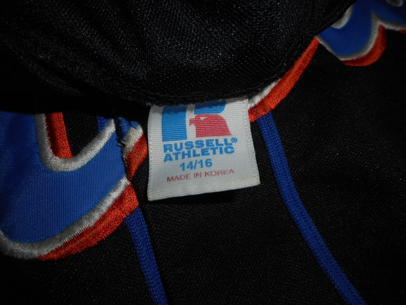 Vintage 90s Russell Athletic Black New York Mets Sewn Jersey Youth L