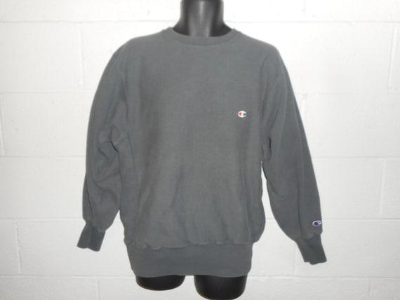 Vintage 80s 90s Green Champion Reverse Weave Sweat