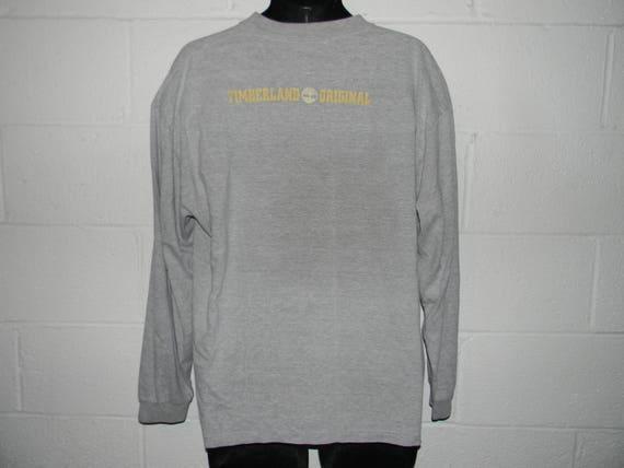 Vintage 90s Timberland Boots Long Sleeve Shirt XL