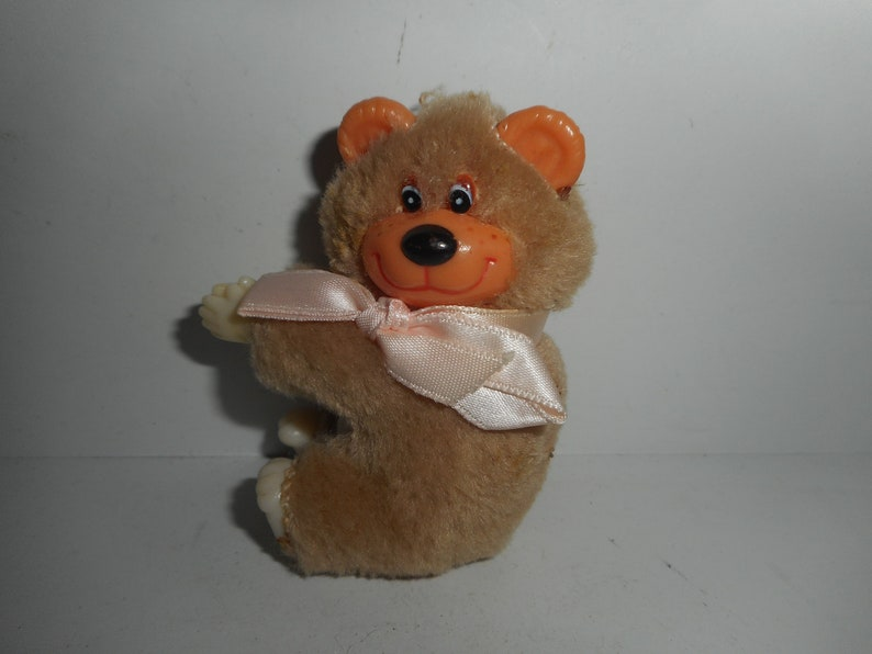 7470f47f9fd Vintage 80s Teddy Bear Gripper Grabber Hugger Clip On Plush