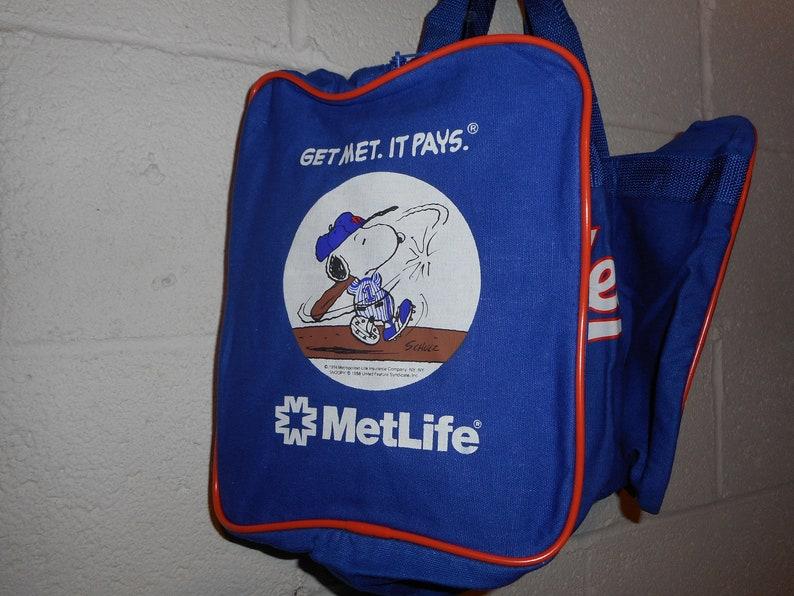 Vintage 90s New York Mets Metlife Snoopy Duffle Bag Gym Bag  90d016de72c65