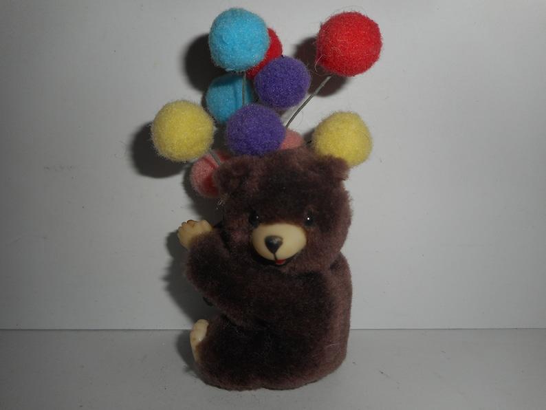 98ab0e135d6 Vintage 80s Teddy Bear Balloons Birthday Gripper Grabber