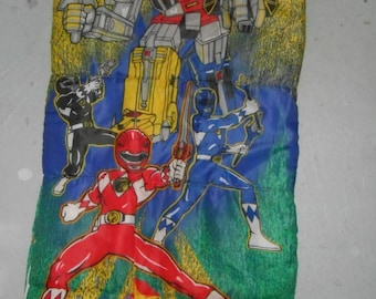 Vintage 1994 Mighty Morphin Power Rangers Sleeping Bag 30 x 57