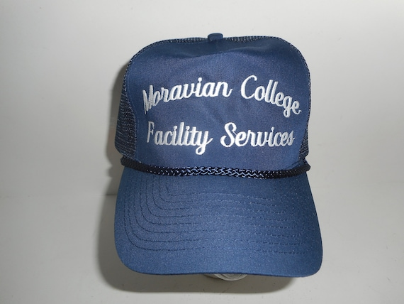Vintage 80s Moravian College Facilities Trucker Sn