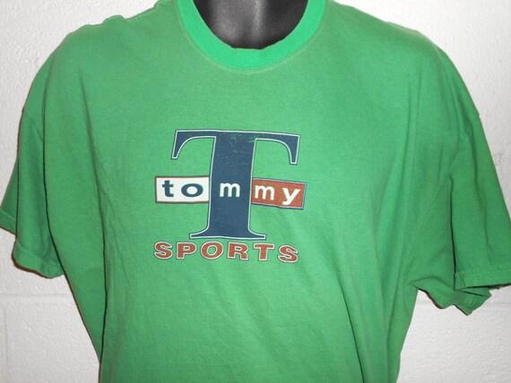 vintage 90 s tommy hilfiger green t shirt