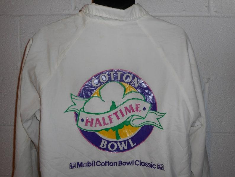 Vintage 80s 90s Mobile Oil Cotton Bowl Classic Halftime Windbreaker Jacket Large