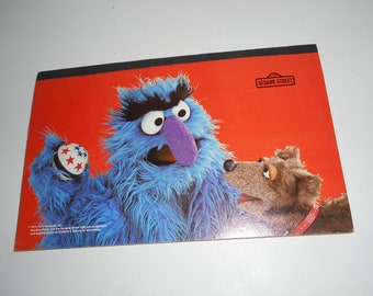 "Vintage 70s 1977 Sesame Street Muppets Drawing Pad 11""x17"""