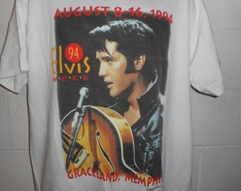 Vintage 90s 1994 Elvis Week Graceland Memphis T-Shirt XL