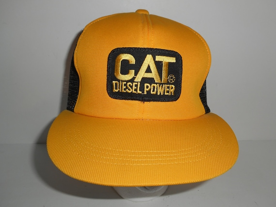Vintage CAT Diesel Power Trucker Snapback Hat Cap  f3f0ce5557d