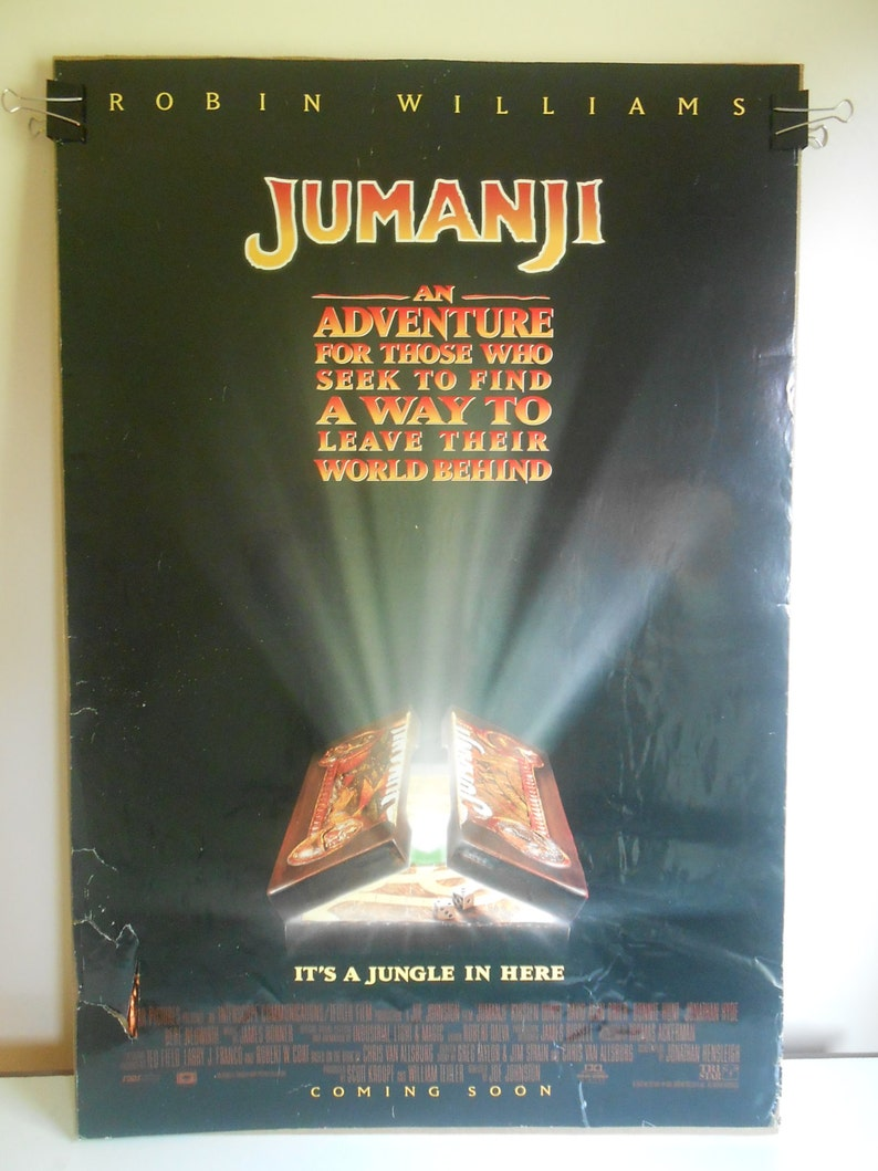 Jumanji (1995) Original Double Sided Movie Poster Robin Williams 27x40
