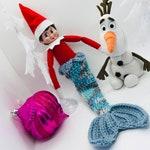 """Elf mermaid tail, Christmas Elf, Elf Clothes, Elf, Shelf,  Elf Accessories, Fashion Doll, Elf Clothing, Doll Clothes, 12"""" doll clothes"""