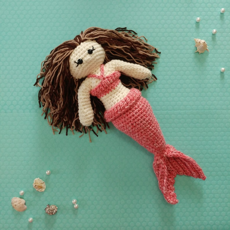 Shellina The Mermaid Amigurumi Crochet Mermaid Doll Pattern Etsy