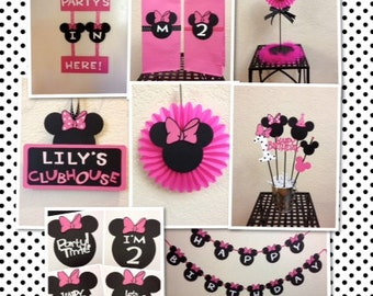 Minnie Mouse Birthday Decorations Set Of 4 Centerpieces Etsy