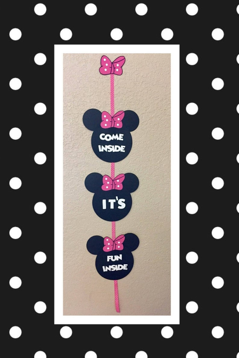 Minnie Mouse Birthday Decorations Sign