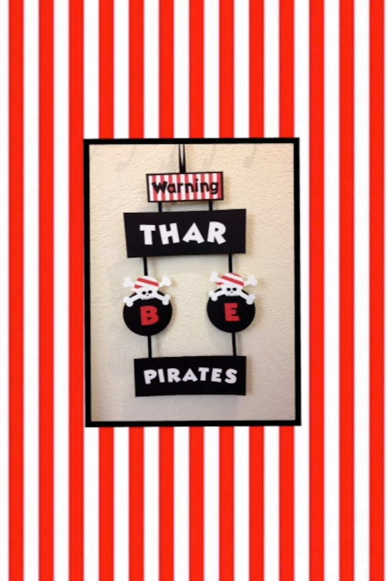 Pirate Party Decorations Pirate Door Hanger Pirate Party Etsy