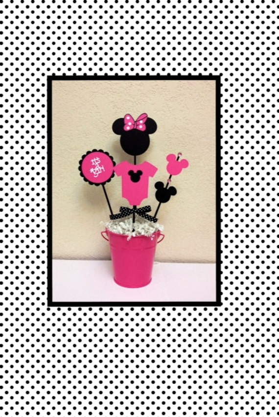Minnie Mouse Baby Shower Decoration Centerpieces Its A Girl Etsy