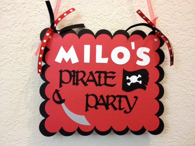 Pirate Party Sign Pirate Birthday Decorations Pirate Party Decor
