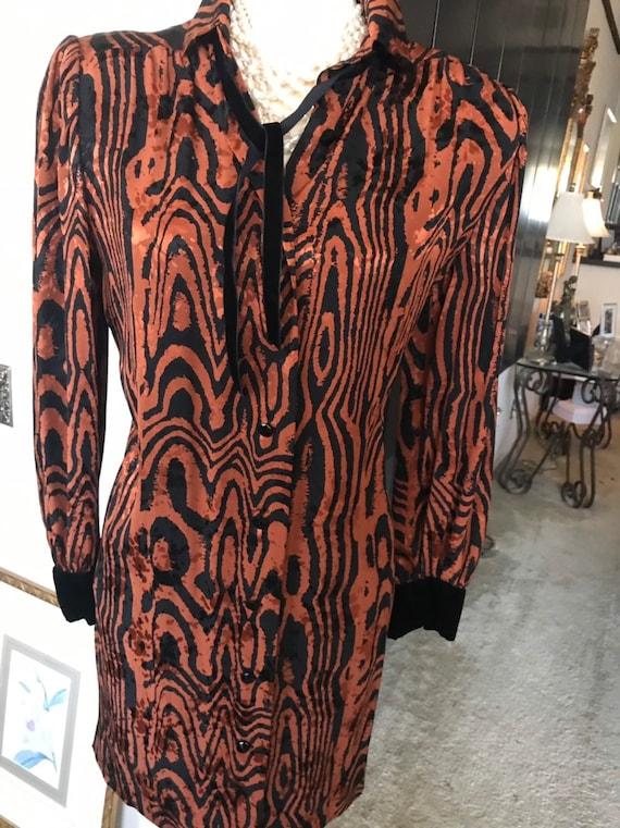 Nina Ricci silk shirtdress