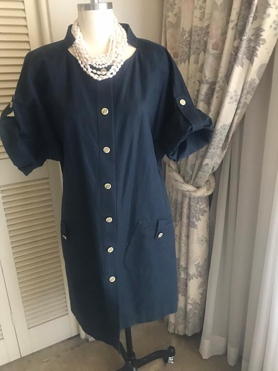 Vintage navy blue coat dress