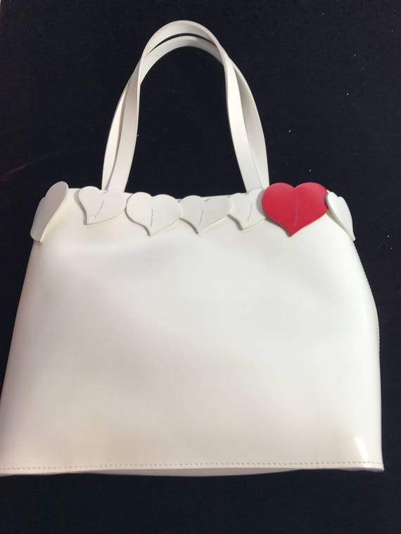 White Lamarthe handbag with heart