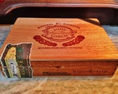 Vintage Handmade Nicaragua Jaime Garcia quot My Father Cigars quot Wooden Cigar Box