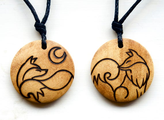 Fox Necklace nature woodland animal jewellery silver plated