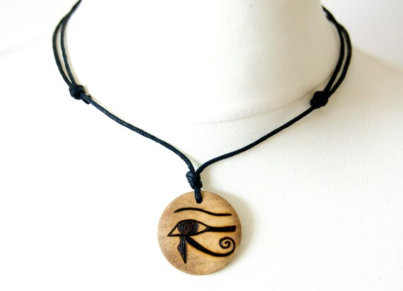 Eye of Horus Egyptian Pendant for Necklace HIEROGLYPH