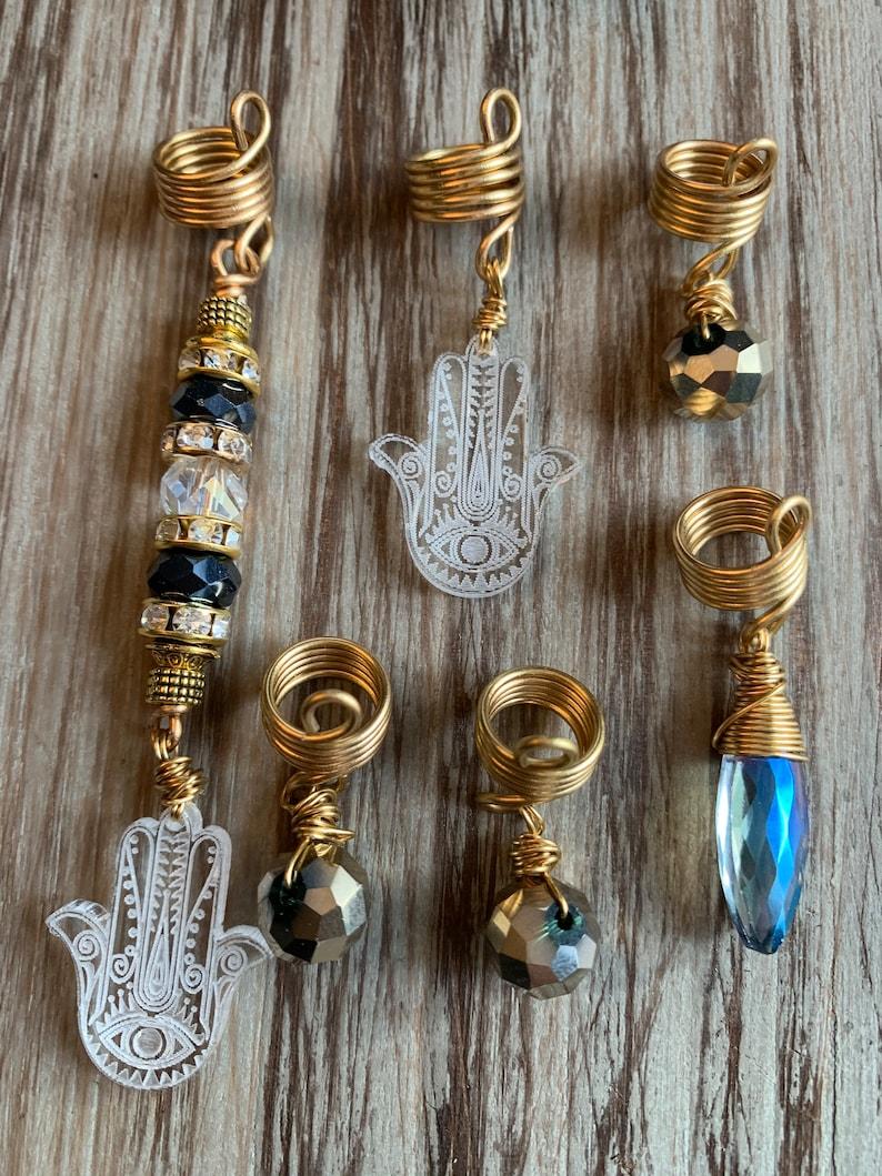 Design/'s by Cyere Hamsa Loc and Braid Jewelry Set