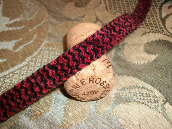 large card 3 yds Chenille wine