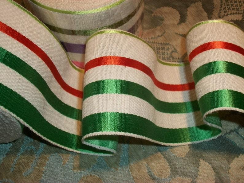 "1 yard 1 3//8/"" Burgundy Gray Black Both striped rayon grosgrain ribbon Belting"