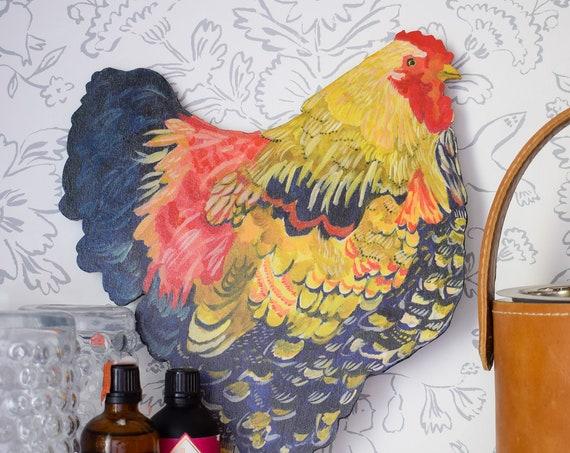 Wyandotte chicken, chicken ornament, chicken decor, chicken coop signs, chicken sign, chickens, backyard chickens, chicken wood sign