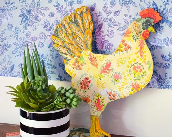 Appenzeller Spitzhauben, chicken ornament, chicken decor, chicken coop signs, chickens, backyard chickens, chicken wood sign