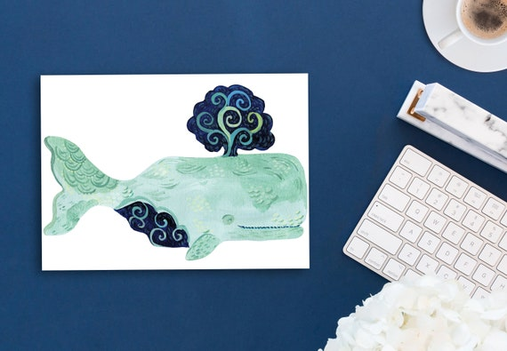 Whale decal by Kimberly Hodges, whale sticker, whale decal, yeti decal, whale, whale stickers, whale lover, macbook whale decal